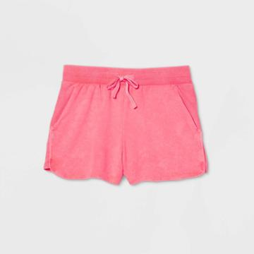 Women's Mid-rise French Terry Shorts 5 - All In Motion Orange
