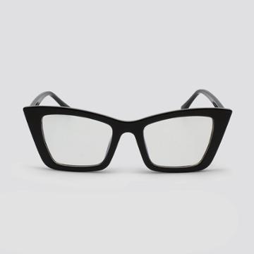 Women's Blue Light Filtering Cateye Plastic Sunglasses - Wild Fable Black, Black/blue
