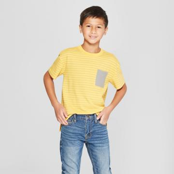 Petiteboys' Short Sleeve Heathered T-shirt - Cat & Jack Yellow Xl, Boy's, Gold