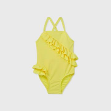 Toddler Girls' Ruffle Wrap One Piece Swimsuit - Cat & Jack Yellow