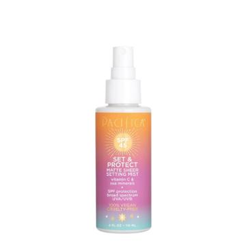 Pacifica Set & Protect Matte Sheer Setting Mist - Spf