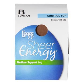 L'eggs Sheer Energy Women's Control Top Pantyhose - Suntan Q, Women's
