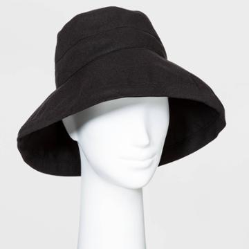 Women's Bucket Hats - A New Day Black One Size, Women's