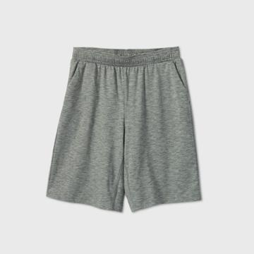Boys' Soft Gym Shorts - All In Motion Deep Green