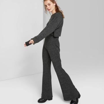 Women's High-rise Flared Pants - Wild Fable Charcoal Xs, Women's, Gray