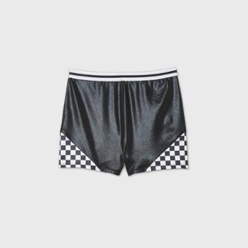 More Than Magic Girls' Checkered Gymnastics Shorts - More Than