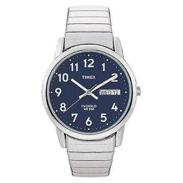 Men's Timex Easy Reader Expansion Band Watch - Silver/blue T200319j, Blue