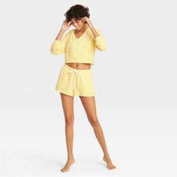 Women's French Terry Lounge Shorts - Colsie Yellow