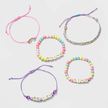 Girls' 5pk Mixed Bracelet Set - Cat & Jack
