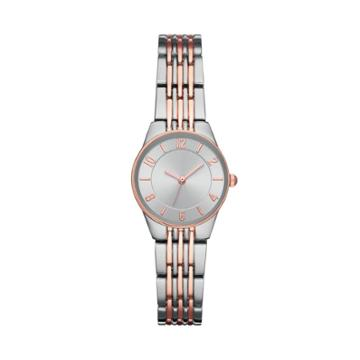 Women's Slim Bracelet Watch - A New Day Silver, Pink