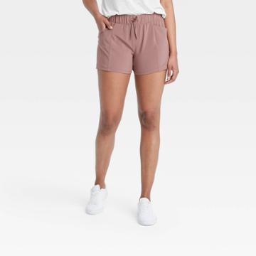 Women's Stretch Woven Shorts - All In Motion Brown