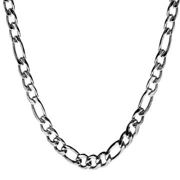 Crucible Men's Stainless Steel Crucible Men's Figaro Chain Necklace