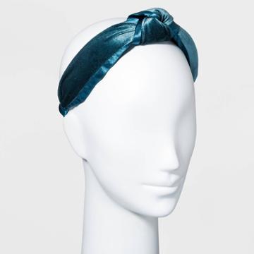 Velvet Knot Headband - A New Day Blue