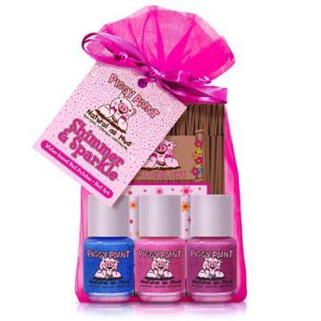 Piggy Paint Nail Polish Set - Shimmer & Sparkle - 3pk/0.25 Fl Oz Each +