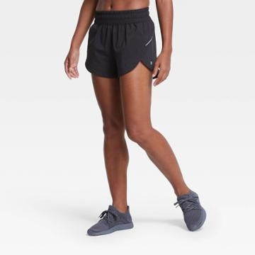 Women's Mid-rise Run Shorts 3 - All In Motion Black