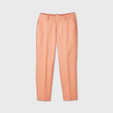 Women's Mid-rise Slim Ankle Pants - A New Day Coral 0, Women's, Pink