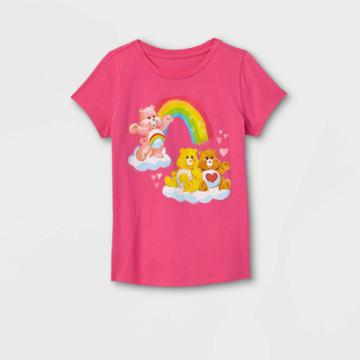 Girls' Care Bears Friendship Short Sleeve Graphic T-shirt - Pink
