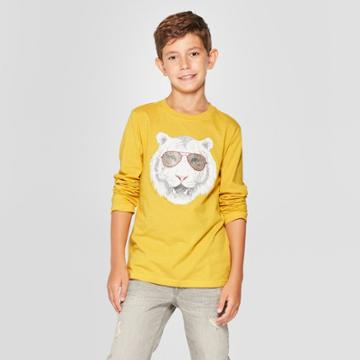 Boys' Cool Tiger Long Sleeve Graphic T-shirt - Cat & Jack Yellow