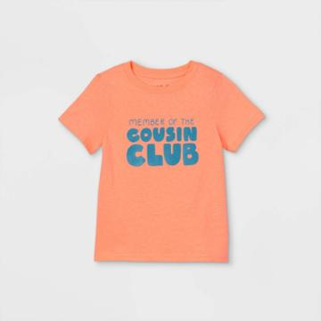 Toddler 'cousin Crew' Short Sleeve Graphic T-shirt - Cat & Jack Moxie Peach