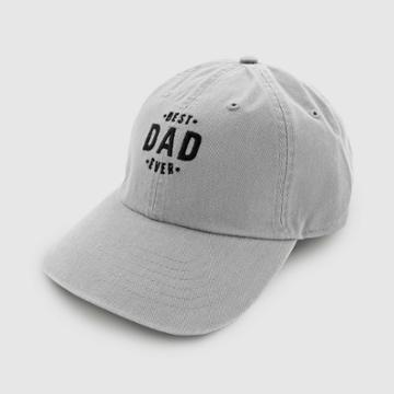 Wemco Men's Best Dad Ever Baseball Hat - Gray One Size,