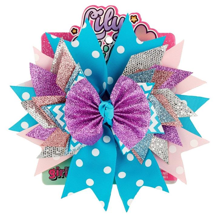 Lily Frilly Hair Clips And Pins - Blue