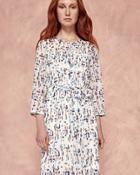 Ted Baker Printed Shirt Dress Ivory