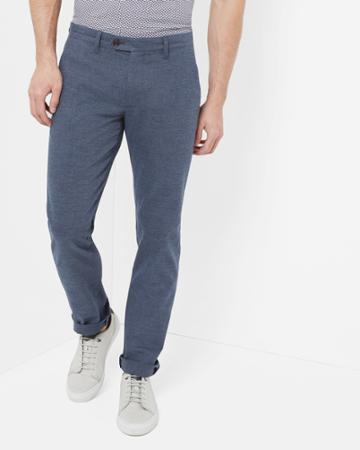 Ted Baker Slim Fit Textured Pants