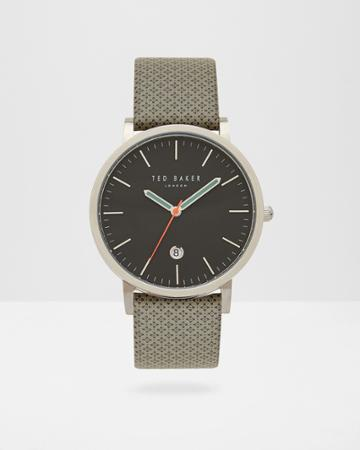 Ted Baker Geo Print Leather Watch