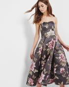 Ted Baker Floral Jacquard Full Midi Dress