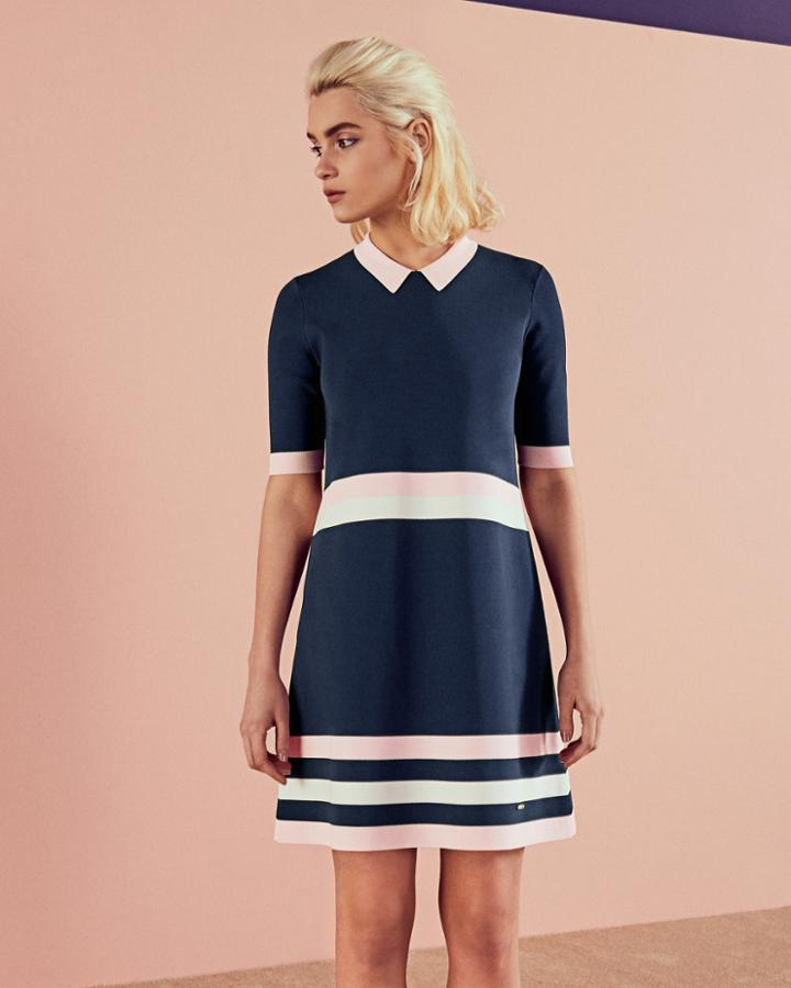 Ted Baker Colour-block Knitted Dress