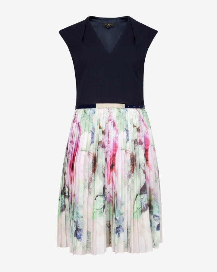 Ted Baker Pure Peony Pleated Skirt Dress