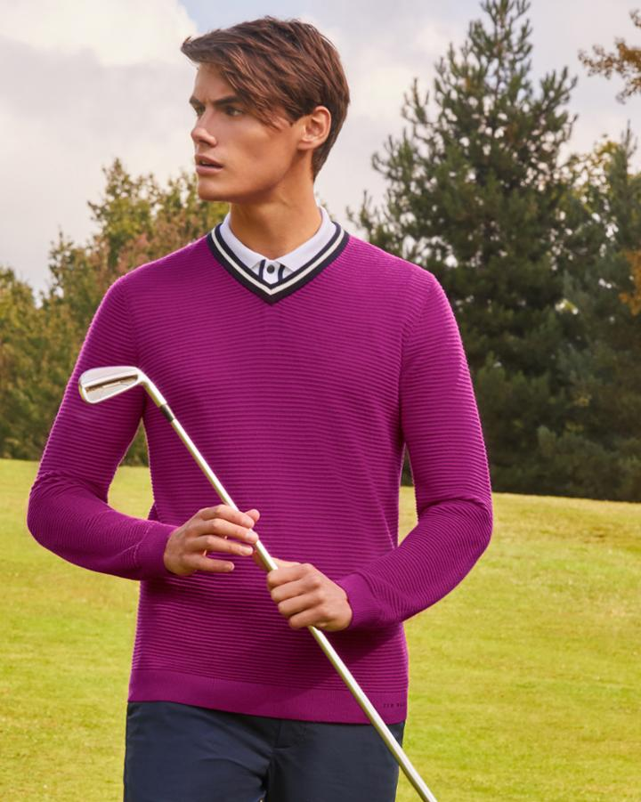 Ted Baker Knitted Cotton-blend Sweater