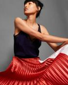 Ted Baker Colour Block Pleated Midi Skirt