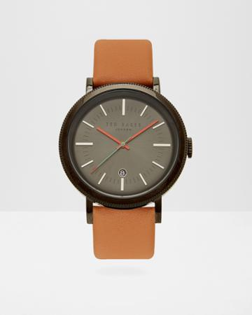 Ted Baker Etched Detail Leather Watch