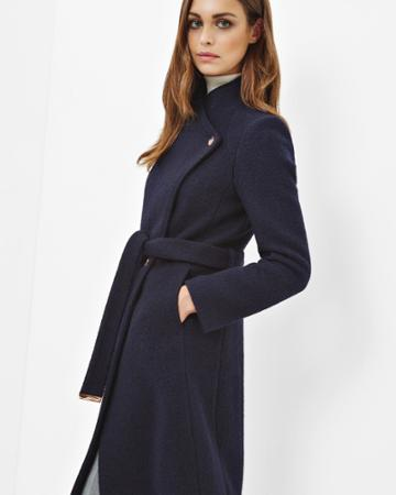 Ted Baker Textured Long Wrap Coat