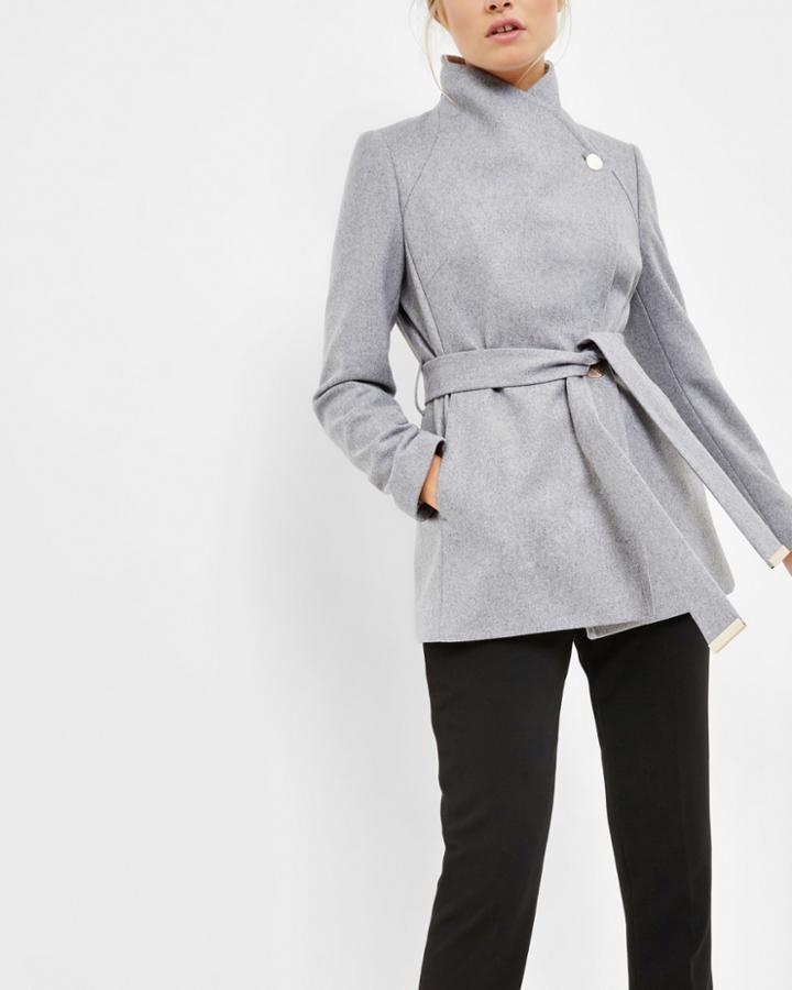 Ted Baker Contrast Lepel Short Wrap Coat
