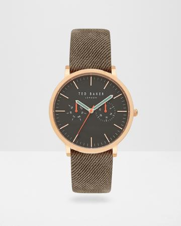 Ted Baker Chronograph Leather Watch