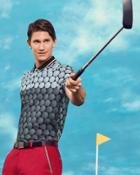 Ted Baker Colour-block Golf Ball Print Polo Shirt