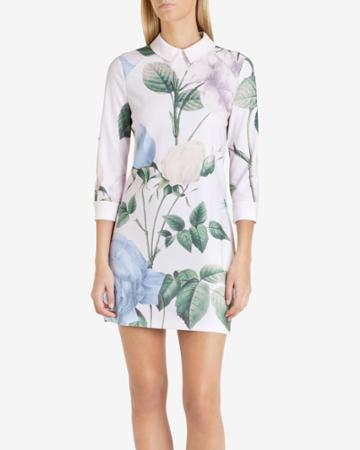 Ted Baker Distinguishing Rose Collared Dress