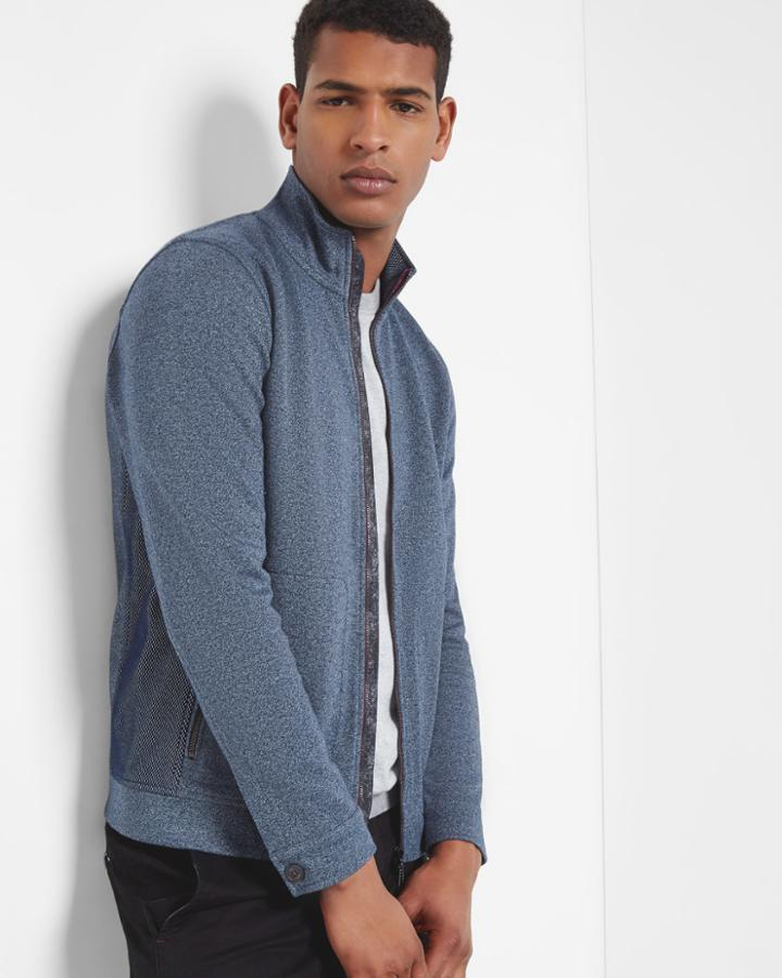 Ted Baker Funnel Neck Zip Through Sweater