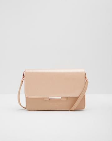 Ted Baker Crosshatch Leather Cross Body Bag