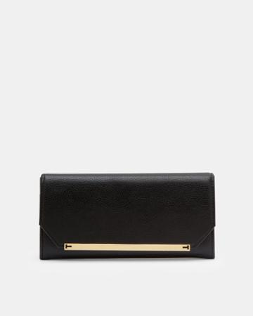 Ted Baker Metallic Detail Leather Matinee Wallet