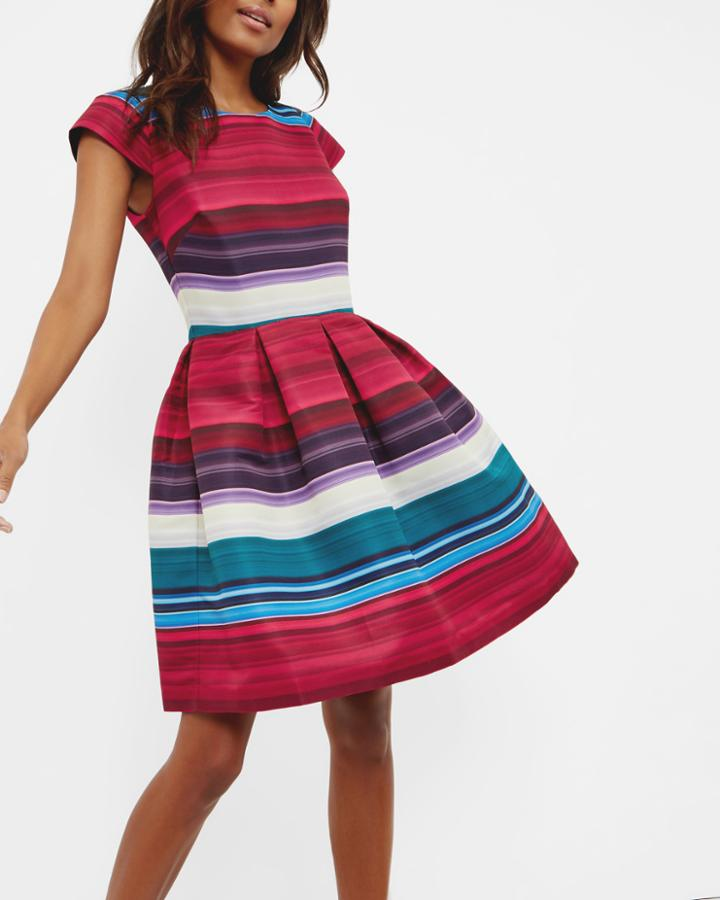 Ted Baker Striped Pleated Dress