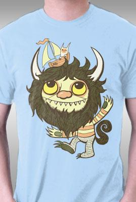 Teefury Ode To The Wild Things By Wotto Kids L T-shirts