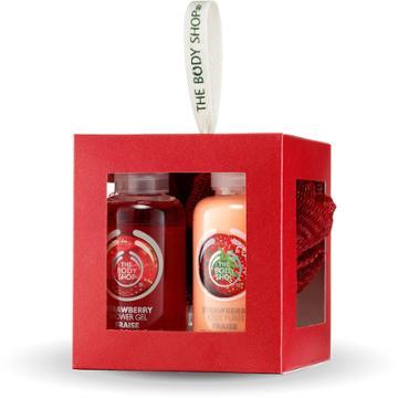 The Body Shop Strawberry Bath & Body Gift Cube