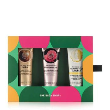 The Body Shop Handfuls Of Happiness Caring Hand Cream Set