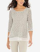 The Limited Layered Marled Sweater