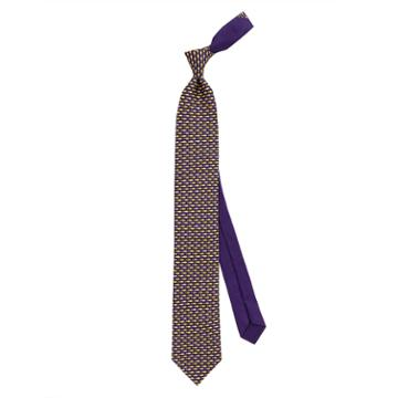 Thomas Pink Fish Printed Tie Purple/yellow