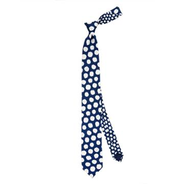 Thomas Pink Hand Painted Spot Printed Tie Navy/white
