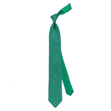 Thomas Pink Elephant And Castle Printed Tie Green/navy